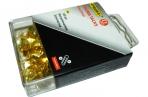"""Кнопки канцелярские золотистые 100 шт. /в пластиковой блистерной упаковке с европодвесом """"Proff"""" оптом"""