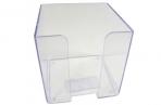 Пластбокс прозрачный для бумажного блока 9*9*9 (СТАММ) оптом