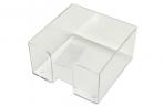 Подставка для бумажного блока, разм. 9х9х5 см, прозрачная,  (СТАММ) оптом
