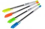 Ручка шариковая масляная СТАММ VeGa, детали ассорти, узел 1, 2мм, линия 0, 7мм, синяя, РШ100 оптом