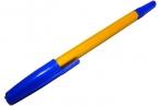 Ручка шариковая СТАММ 049, корпус белый, узел 1, 2мм, линия письма 0, 7мм, синяя, РШ11 оптом