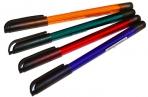 """Ручка шариковая Союз """"Delta"""" синяя, 0, 7мм, тонированный корпус ассорти оптом"""