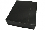 Лоток-коробка архивный, микрогофрокартон, 250x75x315 мм, чёрный, уп-ка 5 шт, цена за 1 шт,  (SPONSOR) оптом