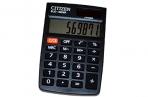 Калькулятор карманный Citizen 8 разр., двойное питание 58*88*10мм, черный оптом
