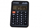 Калькулятор карманный Citizen LC-110NR, 8 разр., питание от батарейки, 58*88*11мм, черный оптом