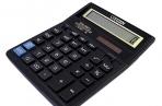Калькулятор, 12 разр., дв. питание, коррекция, две памяти, черный корпус, разм. 203, 2x158,  (CITIZEN) ~~ оптом