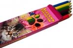 """Карандаши цветные Русский карандаш """"Фольклор"""", 06цв., заточен., картон, европодвес оптом"""