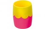 Подставка-органайзер СТАММ (стакан для ручек), розово-желтая непрозрачная, СН502 оптом