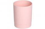 """Подставка-стакан Стамм """"Офис. Voyage. Paris"""", пластик, круглый, розовый оптом"""