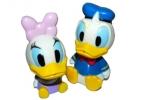 1toy Disney новорожд. наб. игр. для ванны, Дональд Дак (10см) /Дейзи (9, 5 см), брызг., в сетке оптом